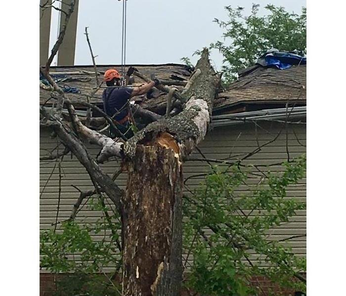 Storm Damage SERVPRO of Cincinnati East is Here to Help after Storm Damage!