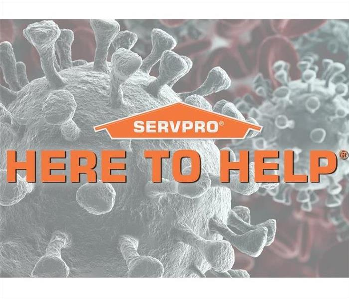 SERVPRO orange house logo with words Here to Help