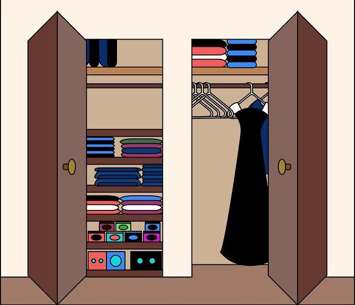 Drawing of closet